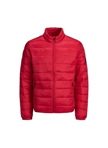 Jack & Jones Jjemagic Puffer Collar No Erkek Mont Kırmızı